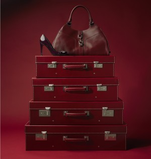 luxury red luggage fashion accessories