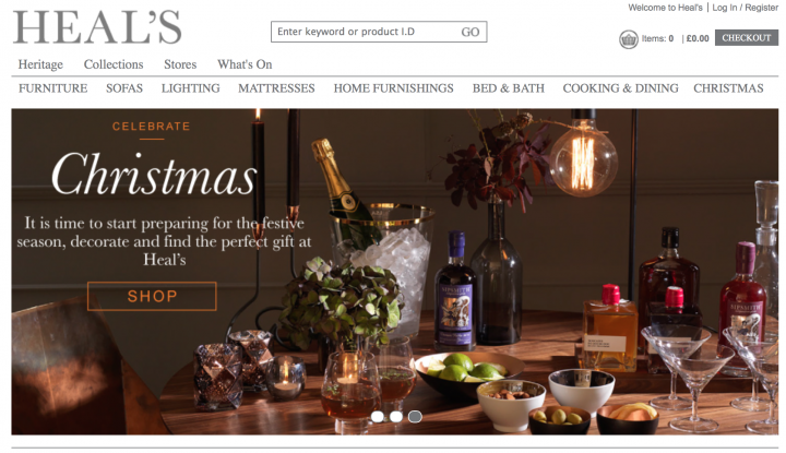 Heal's start christmas ecom. campaign with Splendid images shot by Stephen Belcher, styled by Pascale Smets.